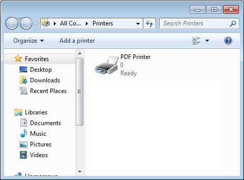 PDF Printer for Windows 7